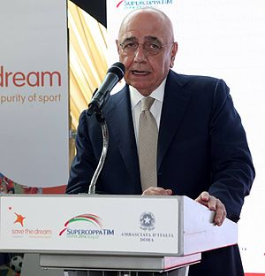 Adriano Galliani - Image: Save the Dream Italian Embassy Welcoming Lunch (31098292533)