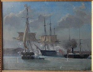 Battle of Eckernförde - battle between the navies of Denmark and Schleswig-Holstein at Eckenforde Fjord