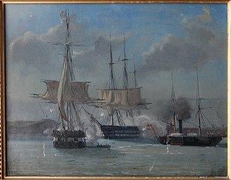 Battle of Eckernförde - battle between the navies of Denmark and Schleswig-Holstein at Eckernförde Fjord