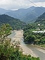 Scenic view of Zengwen River and the distant Dapu Bridge, as taken on 1st October 2020.jpg