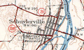 Schuylerville 1949 quad marking NY 338.png