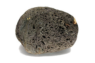 Scoria Dark vesicular volcanic rock