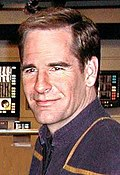 Scott Bakula, photographed on the set of Star Trek: Enterprise