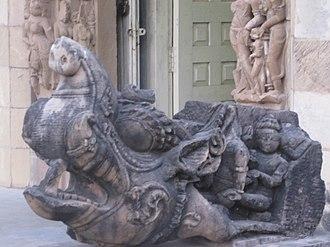 Makara (Hindu mythology) - Makara Sculpture at Jain Museum, Khajuraho
