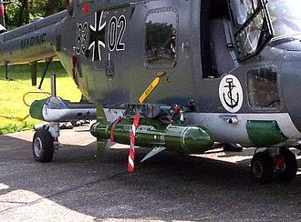 Sea Skua - Sea Skua missile on a Westland Lynx of the German Navy