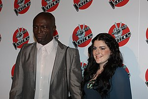 Karise Eden - Eden with her coach and mentor Seal in June 2012.