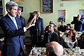 Secretary Kerry Greets Spanish Tourists After a Stop at a Berlin Restaurant (12236579475).jpg