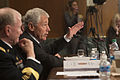 Secretary of Defense Chuck Hagel answers a senator's question during testimony before the Senate Appropriations Subcommittee on Defense in the Dirksen Senate Office Building in Washington, D.C., on June 1 130611-D-VO565-010.jpg