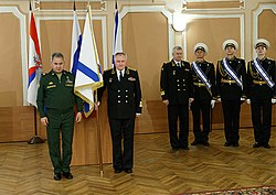Sergey Shoigu and Vladimir Korolev (2016-04-18) 1.jpg