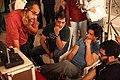 Shahrukh Khan, Adnan Safee and Bappaditya Roy. On the sets of Hyundai i17.jpg
