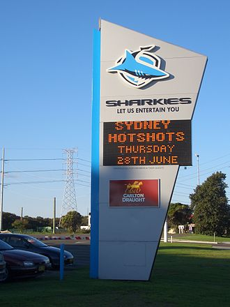 Endeavour Field - Image: Sharkies Leagues Club Sign