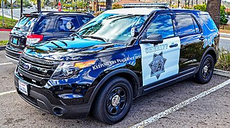San Diego County Sheriff's Department - Black-and-white Ford Police Interceptor Utility in 2015