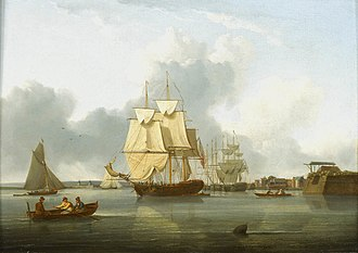 William Anderson (artist) - Image: Shipping on the Thames off Deptford