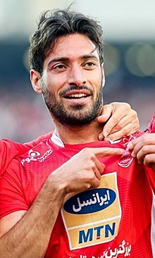 Shoja Khalilzadeh playing for Persepolis in December 2018.jpg
