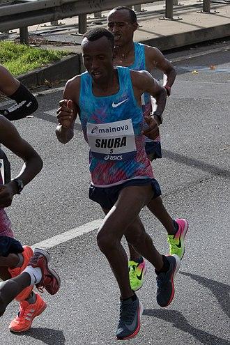 Shura Kitata Tola - Tola Shura Kitata winning the men's Marathon Majors title at the 2017 Frankfurt Marathon