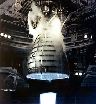Hydrogen - The Space Shuttle Main Engine burnt hydrogen with oxygen, producing a nearly invisible flame at full thrust.