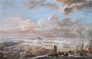 Siege of Brussels - Image: Siège de Bruxelles 1746 L. N. van Blarenberghe