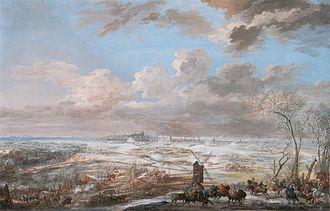 Siege of Brussels - Painting of the battle by Louis-Nicolas van Blarenberghe