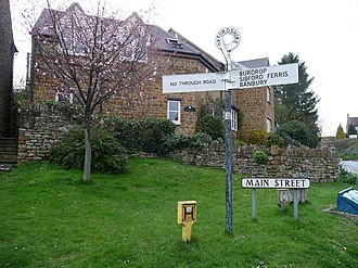 Sibford Gower - Fingerpost at the centre of the village