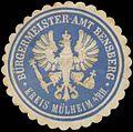 Siegelmarke Bürgermeister-Amt Bensberg Kreis Mülheim-Rhein W0382471.jpg