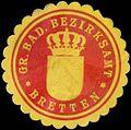 Siegelmarke Gr. Bad. Bezirksamt Bretten W0350185.jpg