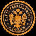 Siegelmarke K.u.K. 13. Korpskommando in Agram W0317162.jpg