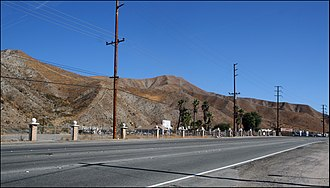 Sierra Highway - Sierra Highway in the San Gabriel Mountains