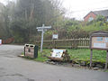 Signpost in Cafe car park - geograph.org.uk - 1574339.jpg