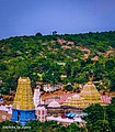 Simhachalam temple from a hilltop.jpg