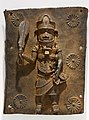 Single-figure plaque, Benin Kingdom court style, Edo peoples, Benin City, Nigeria, mid 16th to 17th century, cast copper alloy - Dallas Museum of Art - DSC04934.jpg
