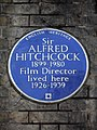 Sir Alfred Hitchcock 1899-1980 Film Director lived here 1926-1939.jpg