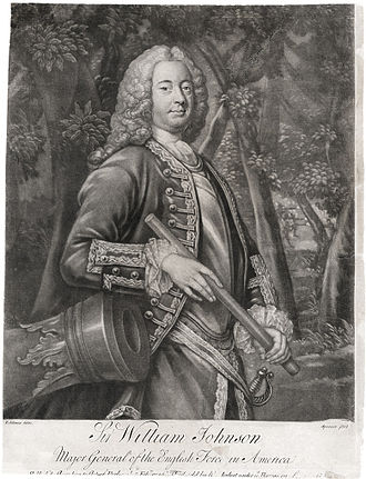 Sir William Johnson, 1st Baronet - This mezzotint of William Johnson was published in London in 1756.