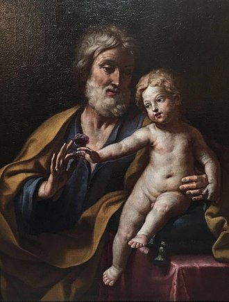 Saint Joseph - St. Joseph with the Infant Jesus by Elisabetta Sirani, c. 1662