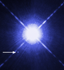 Star Sirius A with white dwarf companion Sirius B