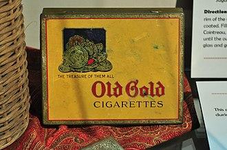 Old Gold (cigarette) - Image: Sit H Old Gold cigarette box