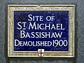 Site of St Michael Bassishaw demolished 1900.jpg