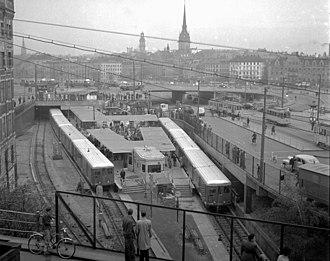 Slussen metro station - Slussen metro station in 1950.