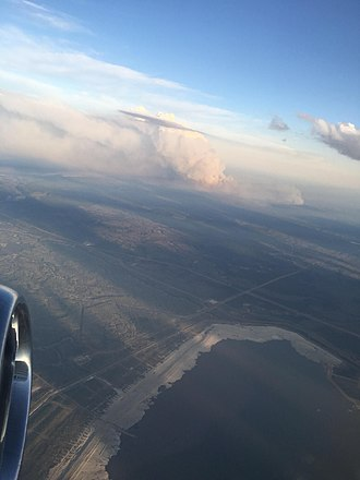 2016 Fort McMurray wildfire - Aerial view
