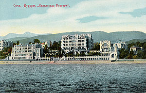 "Caucasian Riviera - The ""Caucaisian Riviera"" resort in Sochi, ca. 1909"