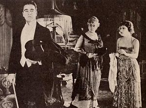 Society for Sale - Film still with William Desmond, Lillian Langdon, and Gloria Swanson