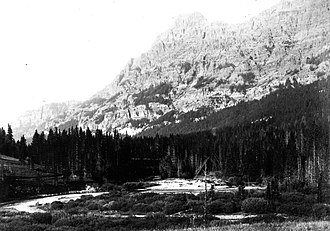 Barronette Peak - Image: Soda Butte Creek 1890