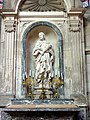 Soissons (02), cathédrale, chapelle rayonnante nord, autel et retable de saint Rufin 3.jpg