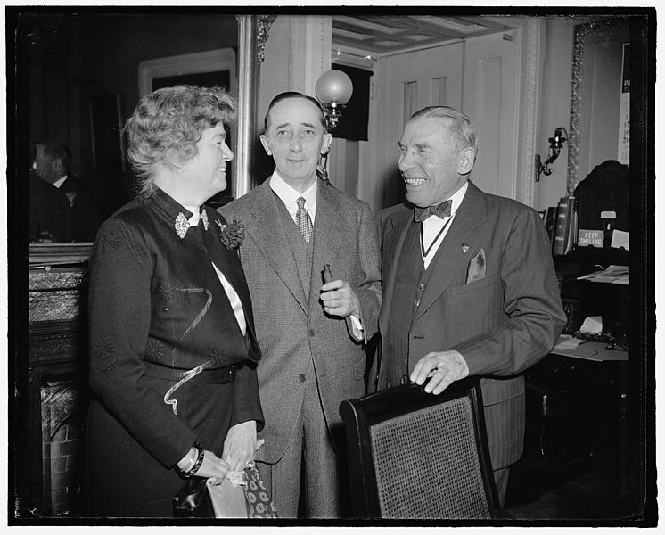 File:Sol. Bloom, Claude Bowers, Rep. Edith Rogers.jpg