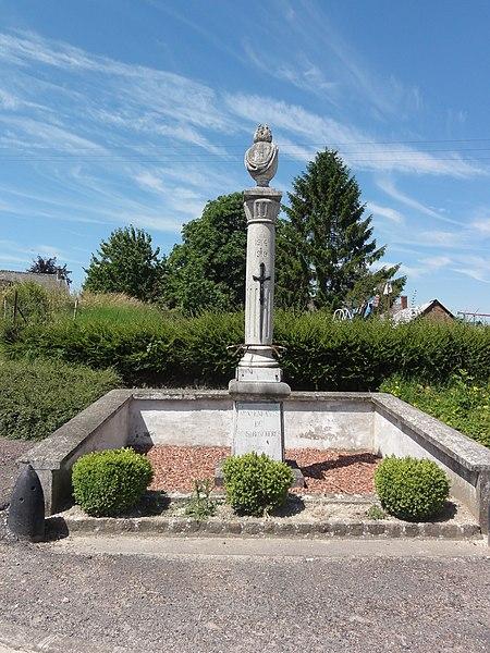Sons-et-Ronchères (Aisne) monument aux morts