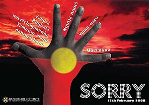 National Sorry Day - A commemorative poster from 2008