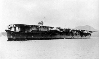 Japanese aircraft carrier Sōryū - Sōryū on the day of commissioning, December 29, 1937.