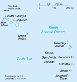 South Georgia And The South Sandwich Islands Wikipedia - Georgia map islands