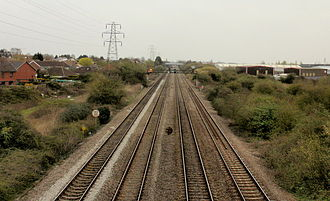 South Wales Main Line - Four track railway approaching Cardiff from Newport
