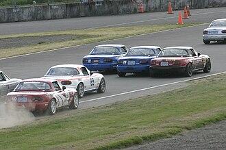 Spec Miata - Spec Miata cars on track