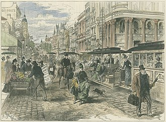 Spencer Street, Melbourne - Illustration of Spencer Street, 1889